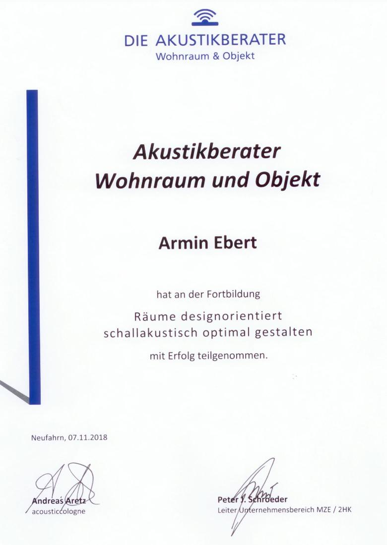 Akustikberatung Schulung Offenbach Ebert