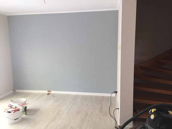 Einzelne Wände farbig angelegt